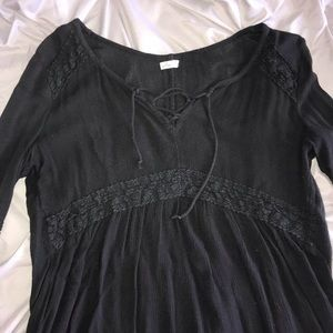 Hollister black baby doll top!